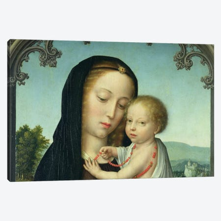 Virgin & Child Canvas Print #7229} by Unknown Artist Canvas Wall Art