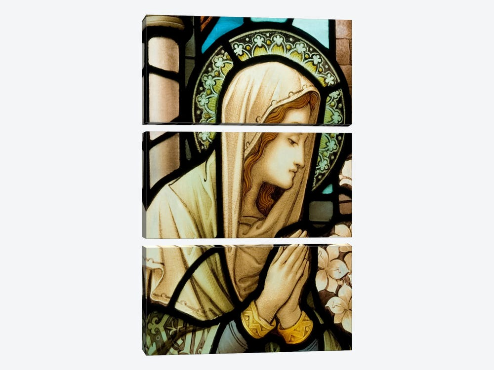 Virgin Marry by Unknown Artist 3-piece Canvas Artwork