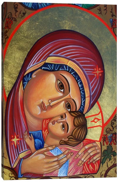 Theotokos & Christ Canvas Art Print