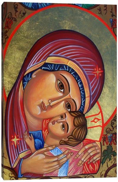 Theotokos & Christ Canvas Art Print