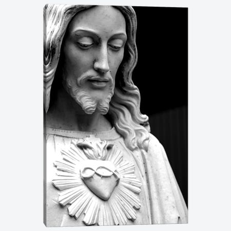 Jesus Christ Black & White Canvas Print #7232} Canvas Art Print