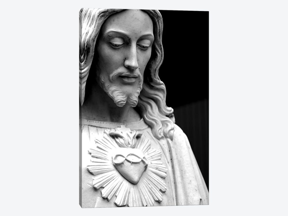 Jesus Christ Black & White by Unknown Artist 1-piece Canvas Artwork