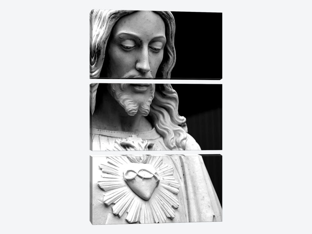 Jesus Christ Black & White by Unknown Artist 3-piece Canvas Art