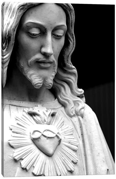 Jesus Christ Black & White Canvas Art Print