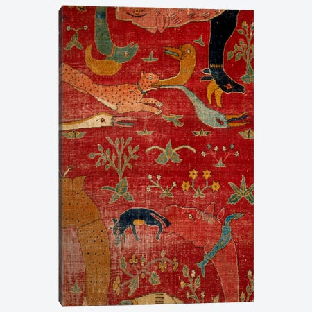 Carpet From Court of Great Mughal Akbar Canvas Print #7234} by Unknown Artist Canvas Art