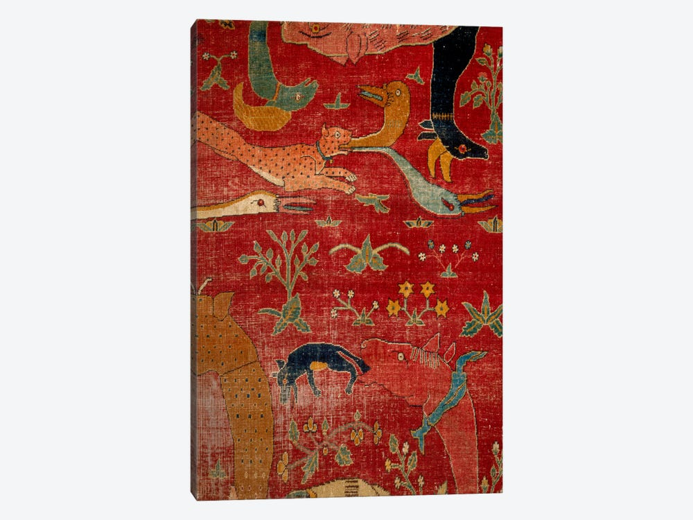 Carpet From Court of Great Mughal Akbar by Unknown Artist 1-piece Canvas Wall Art