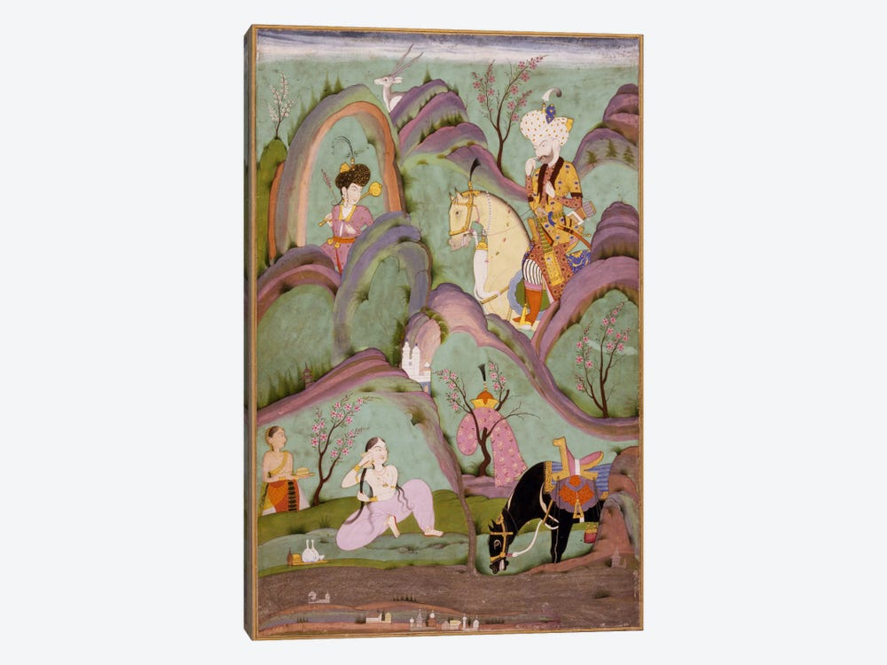 Khusraw Beholding Shirin Bathing 1-piece Canvas Art Print