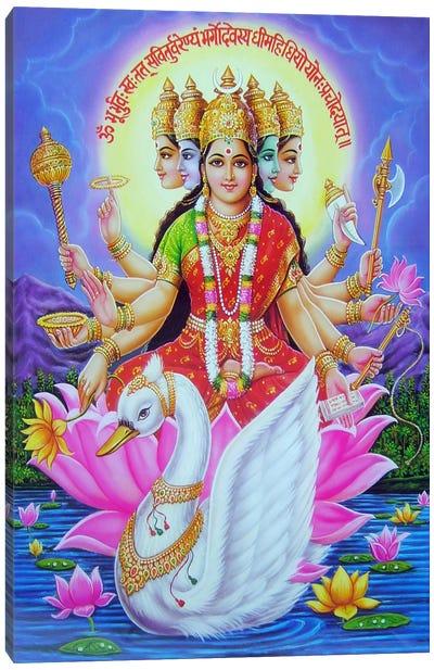 Hindu Goddess Gayatri Canvas Art Print
