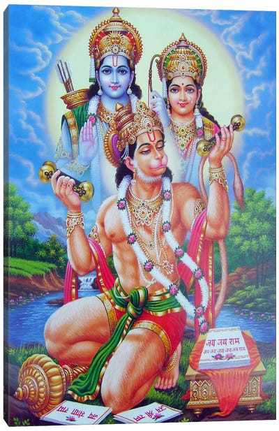 God Hanuman Canvas Print #7240