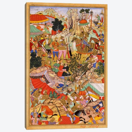 Tayang Khan Presented with Head of Mongol Leader Ong Khan Canvas Print #7243} by Unknown Artist Canvas Artwork