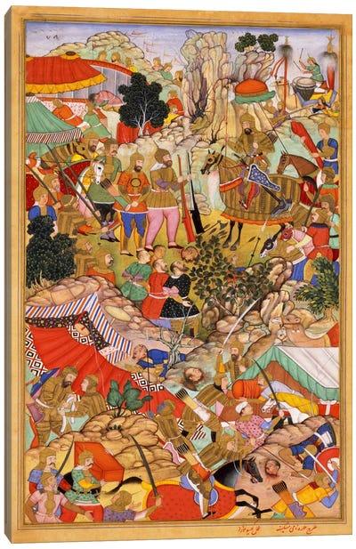 Tayang Khan Presented with Head of Mongol Leader Ong Khan Canvas Art Print