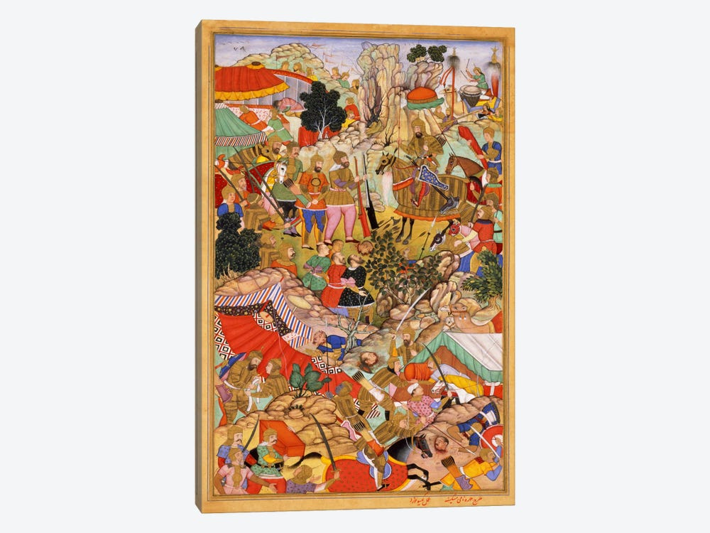 Tayang Khan Presented with Head of Mongol Leader Ong Khan by Unknown Artist 1-piece Canvas Art