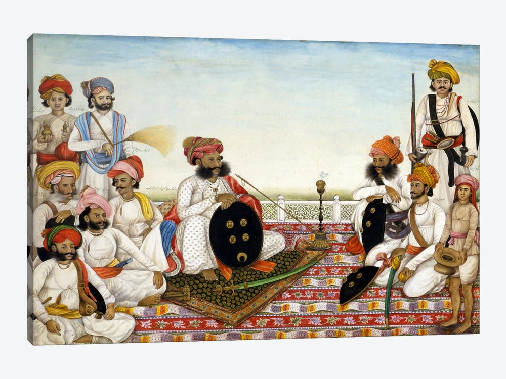 Thakur Dawlat Singh Among Courtiers 1-piece Canvas Print