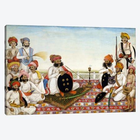 Thakur Dawlat Singh Among Courtiers Canvas Print #7244} by Unknown Artist Art Print