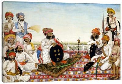 Thakur Dawlat Singh Among Courtiers Canvas Art Print