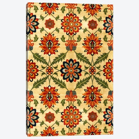 Velvet Silk Carpet India Mughal 17th Century Copy Canvas Print #7247} by Unknown Artist Art Print