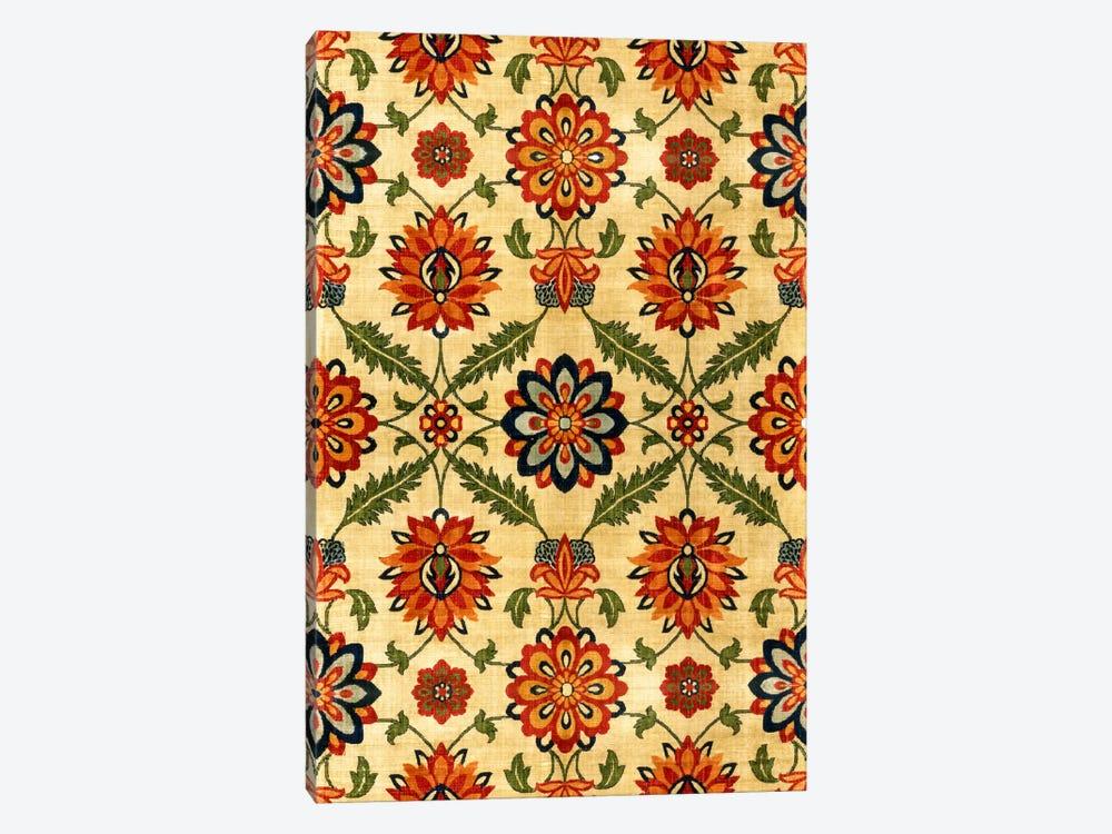 Velvet Silk Carpet India Mughal 17th Century Copy by Unknown Artist 1-piece Canvas Wall Art