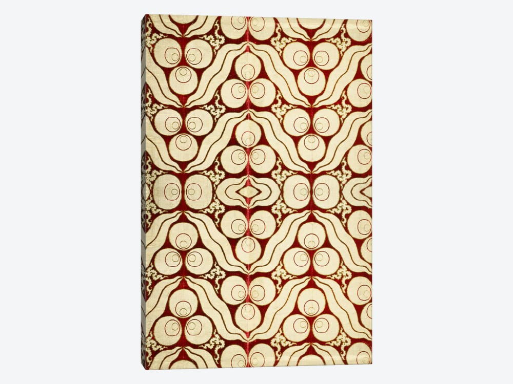 Velvet with a Chintamani Pattern Silk Metal Lamella Fabric  by Unknown Artist 1-piece Art Print