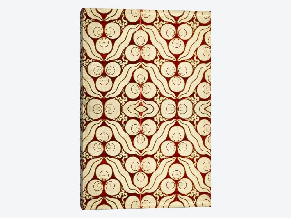 Velvet with a Chintamani Pattern Silk Metal Lamella Fabric  by Unknown Artist 1-piece Art Print