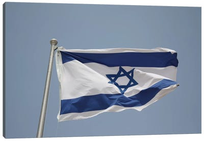 Israeli Flag Canvas Art Print