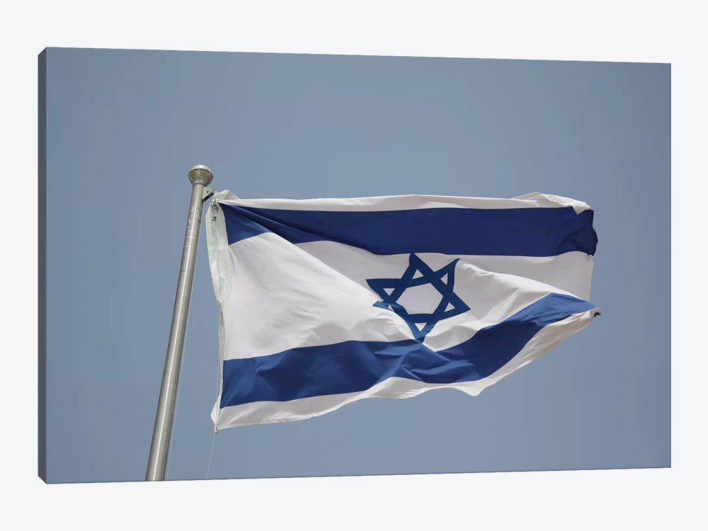 Israeli Flag 1-piece Canvas Wall Art