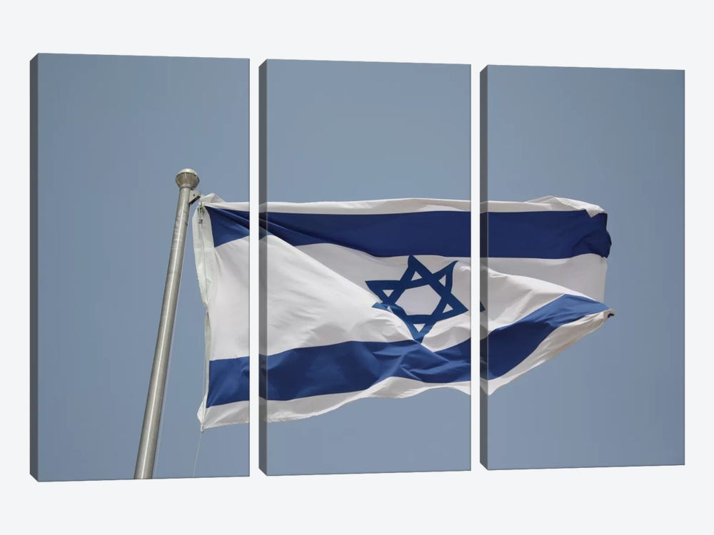 Israeli Flag 3-piece Canvas Artwork