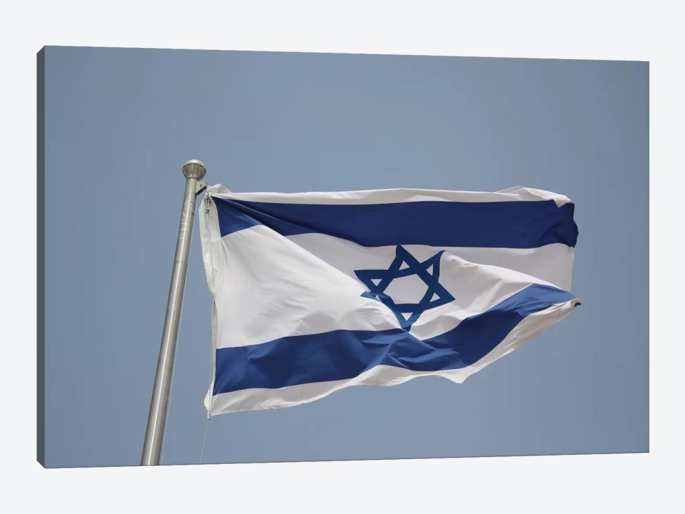 Israeli Flag by Unknown Artist 1-piece Canvas Wall Art