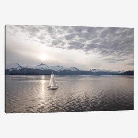 Sailing at Sunset, Alaska '09 Canvas Print #7311} by Monte Nagler Canvas Wall Art