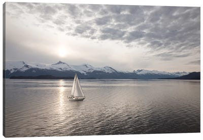 Sailing at Sunset, Alaska '09 Canvas Art Print