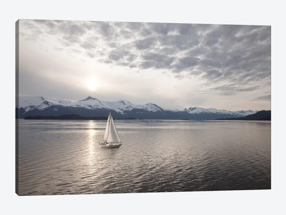 Sailing at Sunset, Alaska '09 by Monte Nagler 1-piece Canvas Artwork