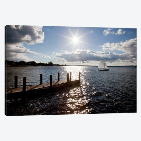 Sunrise at Crooked Lake Conway, Michigan '10 Canvas Print #7312} by Monte Nagler Canvas Art