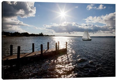Sunrise at Crooked Lake Conway, Michigan '10 Canvas Art Print