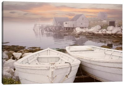 Two Boats at Sunrise, Nova Scotia '11 Canvas Art Print