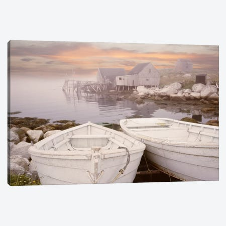 Two Boats at Sunrise, Nova Scotia '11 Canvas Print #7313} by Monte Nagler Canvas Art