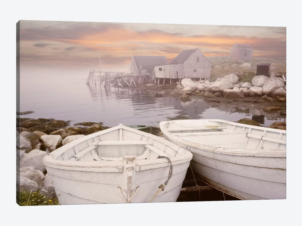 Two Boats at Sunrise, Nova Scotia '11 by Monte Nagler 1-piece Canvas Wall Art