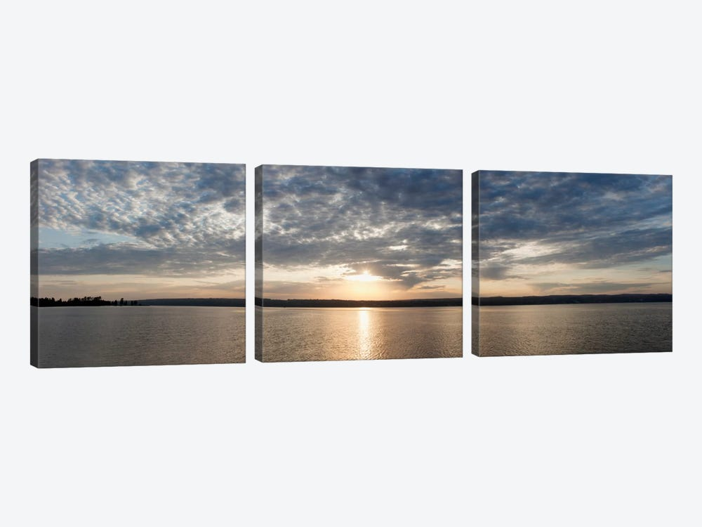 L'Anse Bay PanoramaBaraga, MI '11 by Monte Nagler 3-piece Canvas Wall Art