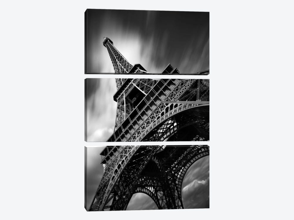 Eiffel Tower Study II by Moises Levy 3-piece Canvas Art Print