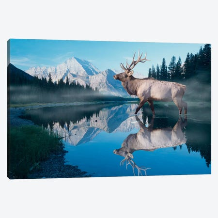 Reflections of Glacier Canvas Print #7324} by Gordon Semmens Canvas Artwork