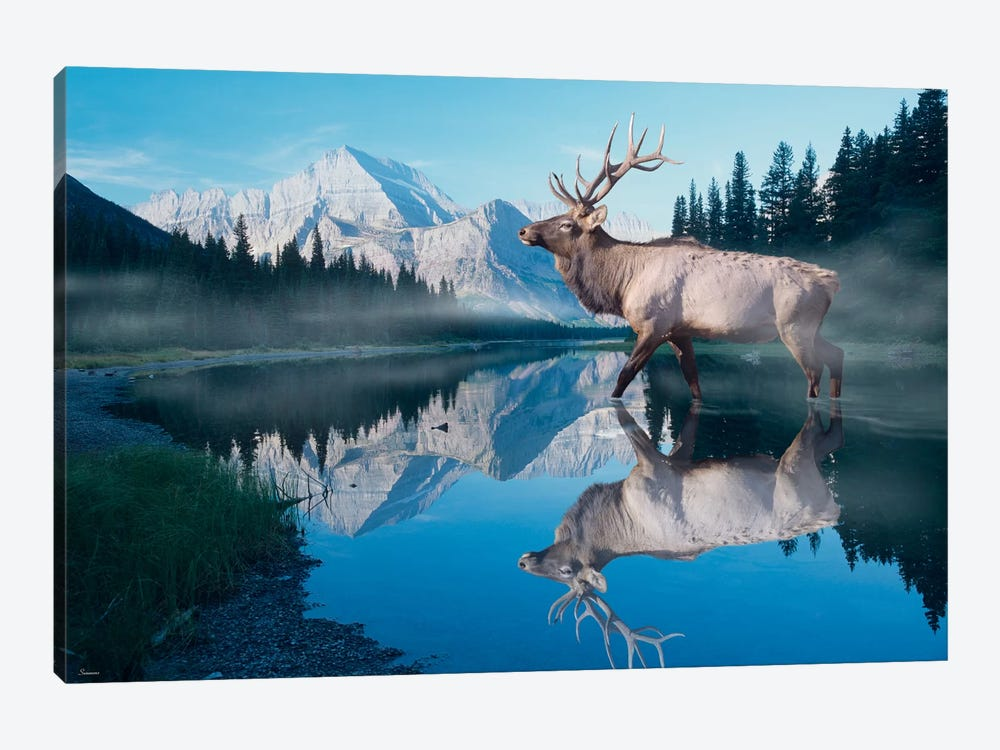 Reflections of Glacier by Gordon Semmens 1-piece Canvas Wall Art