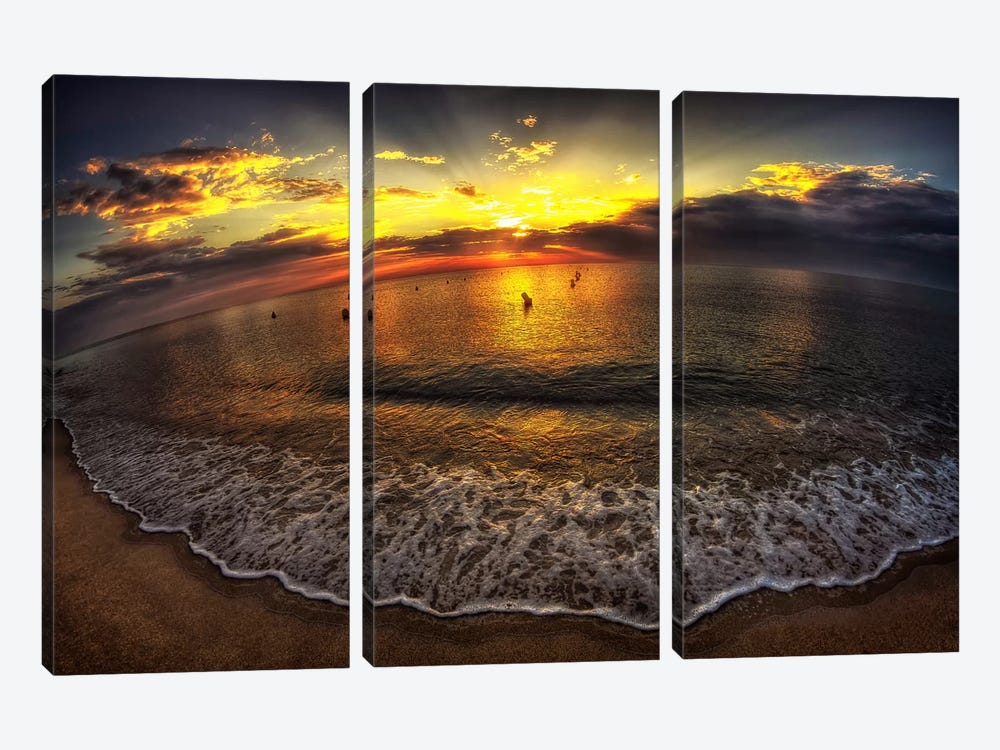 Another Day In Paradise by Sebastien Lory 3-piece Canvas Art Print