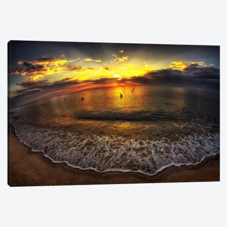 Another Day In Paradise 3-Piece Canvas #7327} by Sebastien Lory Canvas Artwork
