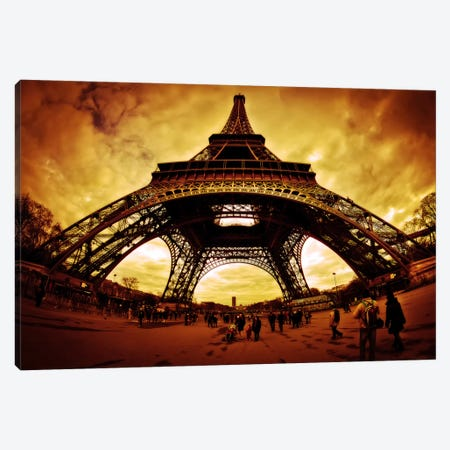Eiffel Apocalypse Color Canvas Print #7329} by Sebastien Lory Art Print