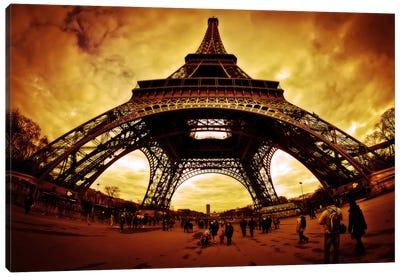 Eiffel Apocalypse Color Canvas Art Print
