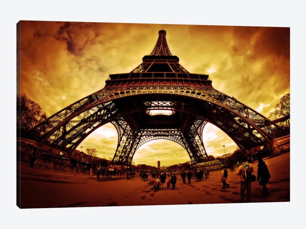 Eiffel Apocalypse Color by Sebastien Lory 1-piece Canvas Print