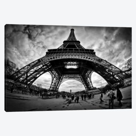 Eiffel Apocalypse B&W Canvas Print #7330} by Sebastien Lory Canvas Wall Art
