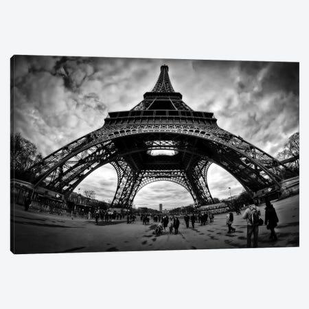 Eiffel Apocalypse B&W Canvas Print #7330} by Sebastien Lory Canvas Wall Art