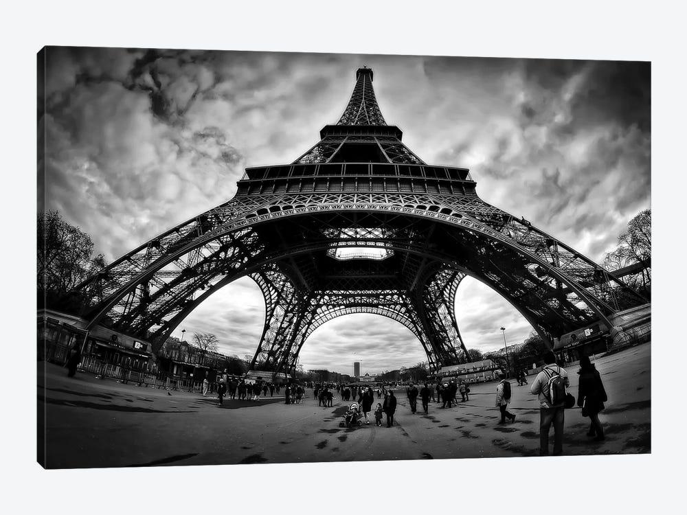 Eiffel Apocalypse B&W by Sebastien Lory 1-piece Art Print