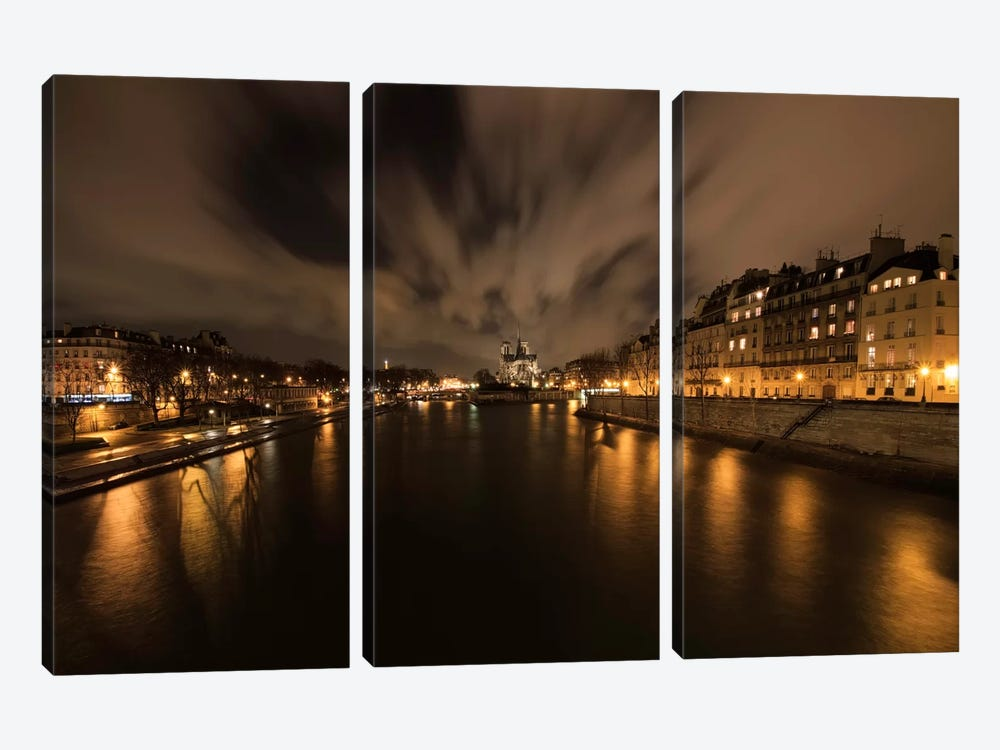 Notre Dame by Sebastien Lory 3-piece Canvas Art