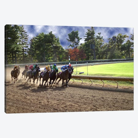 At The Race Track Canvas Print #7} Canvas Print