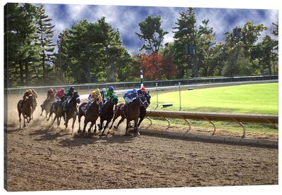 At The Race Track Canvas Art Print